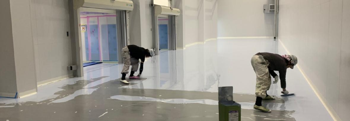 屋内の床塗装
