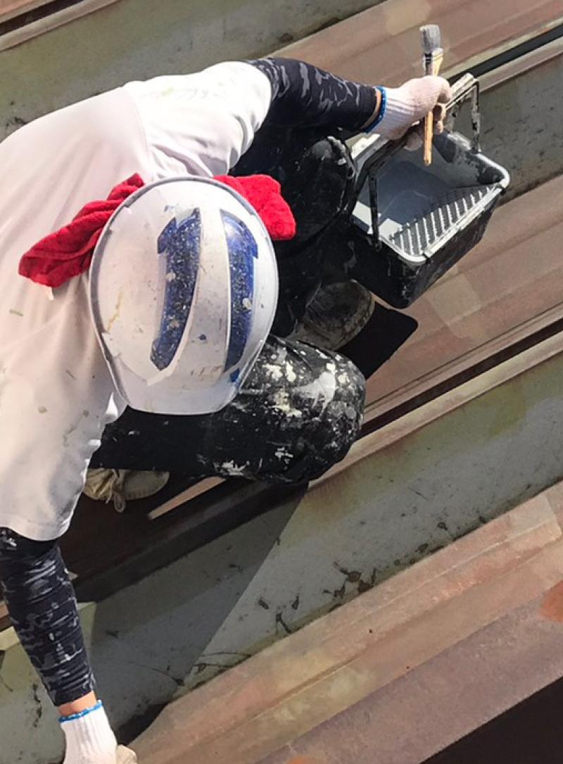 屋根の塗装の内容